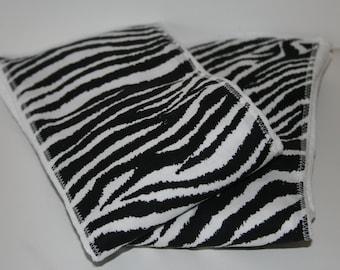 Burp Cloth/Burp Rag Baby Cotton Diaper with Black and White Zebra Print (1)
