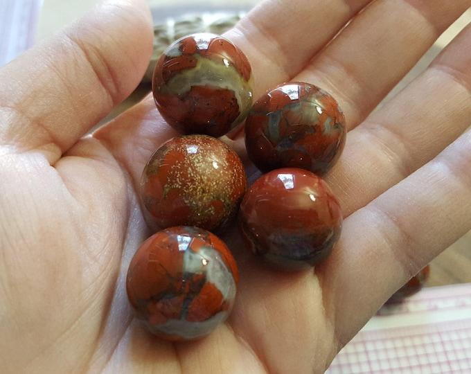 Brecciated Jasper sphere ~ One 20mm Reiki infused crystal ball, sphere, marble