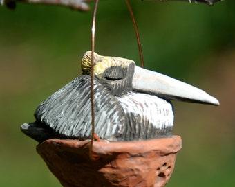 Sleeping Pelican Ornament