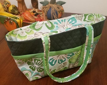 Handmade zippered Tote bag