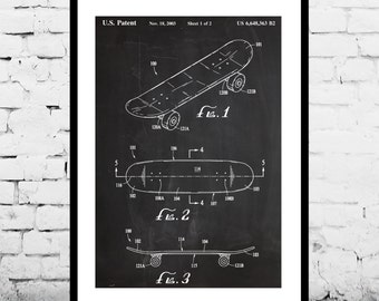 Harley motorcycle blueprint patent poster wall art poster skateboard patent skateboard poster skateboard wall art print patent art patent poster malvernweather Image collections