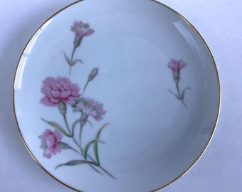 Vintage Royal Court China Carnation Bread Plate 6-1/4""