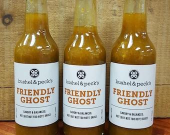 B&P's Ghost Pepper Hot Sauce - Small Batch Handmade - Three Bottles