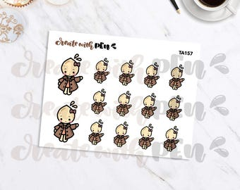 TA157 | FALL JACKET | Tinta | Planner Stickers