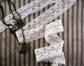 White Ribbon lace retro vintage shabby
