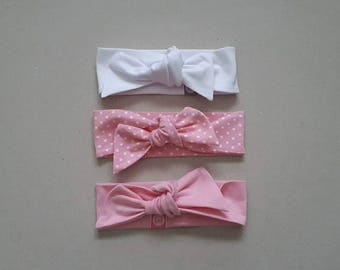 Girl Fashion / Baby Hair Wraps / Baby Girl Headbands / Knot Headbands / Set of 3
