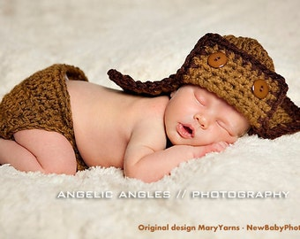 Aviator Hat and diaper Cover Newborn Photography prop in NUTTY  Photography all Babies infant girl boy Baby Session 2pcs