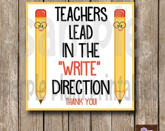 Instant Download - Teacher Appreciation Class Tag - Teacher Week - Print at Home