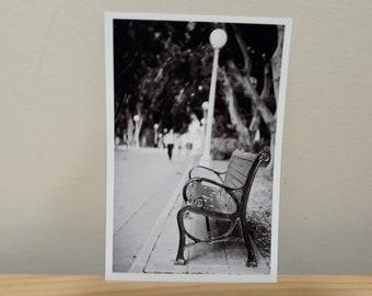 Park Bench - Black & White Urban/Street Photography Print