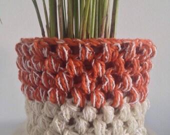 Large crochet bombs pots