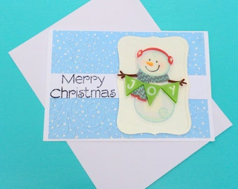 Merry Christmas Snowman With Envelope