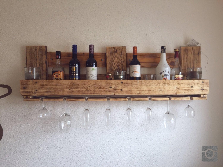 upcycling palettenregal bar weinregal flambiert aus epal. Black Bedroom Furniture Sets. Home Design Ideas
