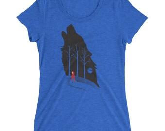 Little Red Riding Hood Fairytale - Women's Short Sleeve T-Shirt