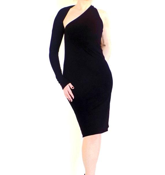 Kleine MIDI-schwarze Kleid schwarz Bleistift Kleid eine