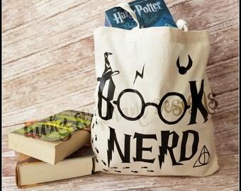 Harry Potter Book Nerd Bag - Book Nerd Tote - Harry Potter Tote - Funny Harry Potter Bag - Harry Potter Book Bag - Harry Potter Tote