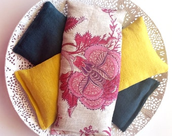 Organic French Lavender and/ or Flax seed Eye Pillow - 100% French Linen - Aromatherapy - Spa - Relax - Sleep Help - Gift idea -Mother's day