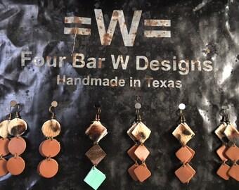 Leather Cascading Earrings