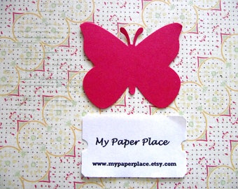 50 Red Butterfly Die Cuts- 2 inch cardstock-  Free Secondary Shipping
