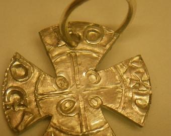 set of 4 christian cross coin pendants 9-11thc denmark living history use