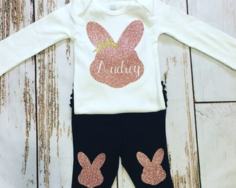 Girls Easter outfit with name