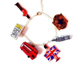 Bracelet SHOPPING WEEKEND in LONDON, charm bracelet by The Sausage