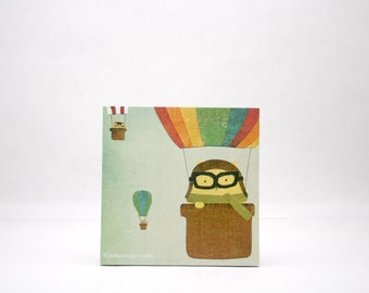STICKY NOTEPAD: Amelia Catheart and the Balloon Cats Gang - Fun Gift, Stationery