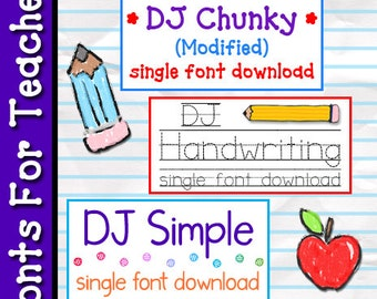 FONTS For Teachers Collection Download
