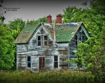 House of the Rising Sun- 8x12 Barn-wood Framed