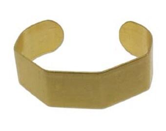 """Geometric brass cuff bracelet blank, 3/4"""" x 6"""""""
