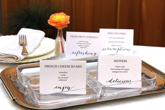 printable party buffet food signs editable wedding food label rh etsy com buffet food labels printable
