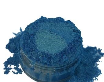 Thirst Blue Gold  Eyeshadow Rich Irridescent Mineral Make up eyeliner 5g Sifter Jar  Eye shadow Petite size Natural Organic Vegan