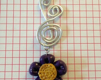 Wire and Fimo technical Pendant