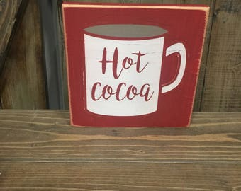 Cocoa Mug - SINGLE USE Vinyl Stencil ONLY