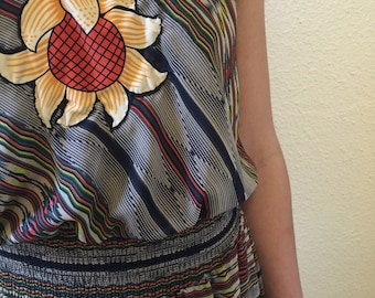 Vintage Renewal Dress with Appliqué