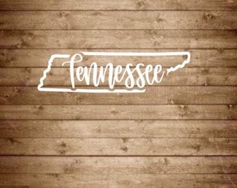 Tennessee State Decal, Tennessee Decal, Tennessee Sticker, State Decal, State Sticker, State Car Decal, State Car Sticker, TN State Decal