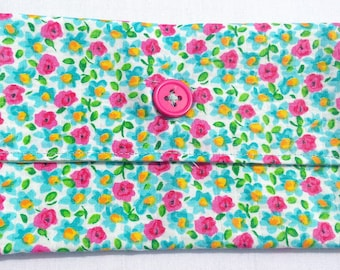 Buttoned Fabric Pouch