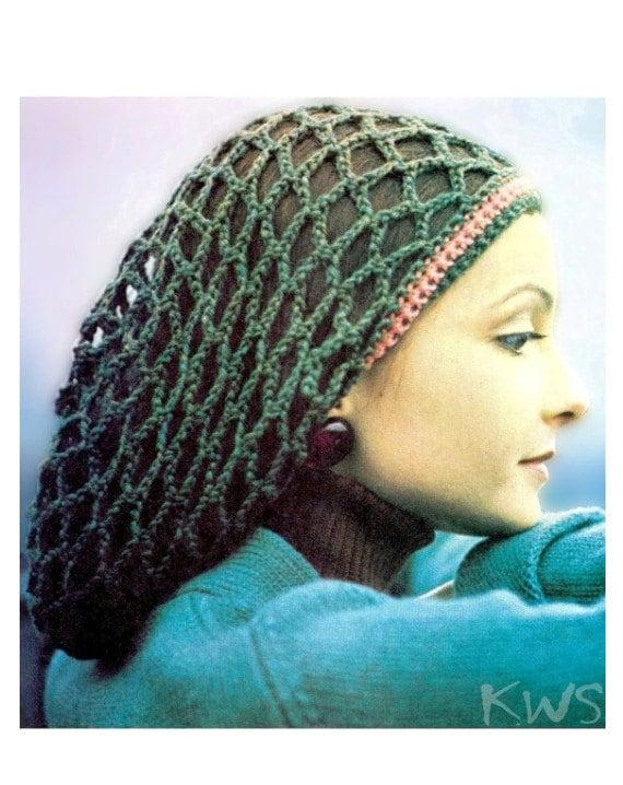 Vintage 70\'s Crochet Slouchy Rasta Tam \