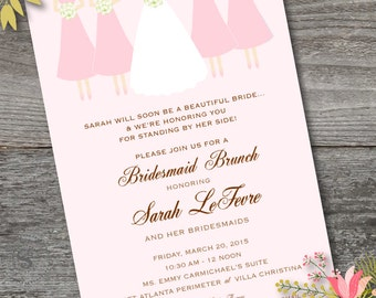 brunch with the bride bridesmaids brunch invitation bridal