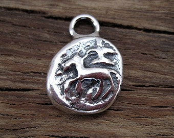Reproduction of Ancient Indian Yoni and Shiva Lingam Symbol Coin in Sterling Silver (one) (A)