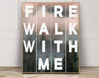 "Twin Peaks ""Fire Walk With Me"" Original Art Print"