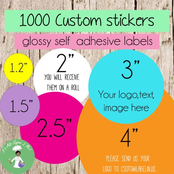 1000 custom stickers circle stickersround stickerscustom labels personalized stickersbulk stickers logo stickers product labels soap from labelin on