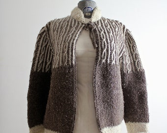 Cream Cardigan • Sweater Cape • Wool Sweater • Wool Cardigan • Cable Knit Sweater • Boho Sweater • Wool Cloak • Open Cardigan • Cable Knit