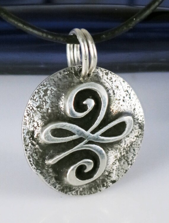 Celtic symbol of serenity fine silver pendant gift silver like this item aloadofball Choice Image