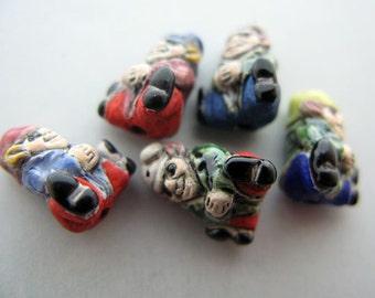 4 Tiny Mixed Gnome Beads