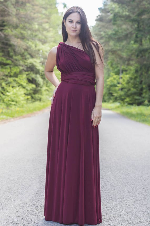 Burgundy wine Bridesmaid dress burgundy infinity dress