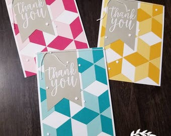 Handmade Thank-you Cards (Set of 3)