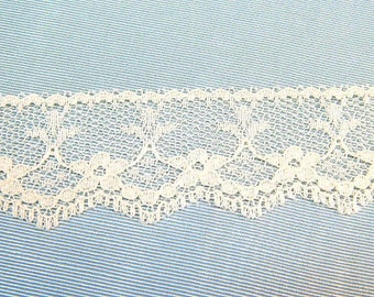 IVORY Lace Trim 5 yds. 1 inch wide