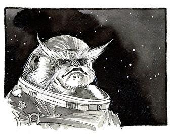 Star Wars - Rogue One - Bistan original ink sketch