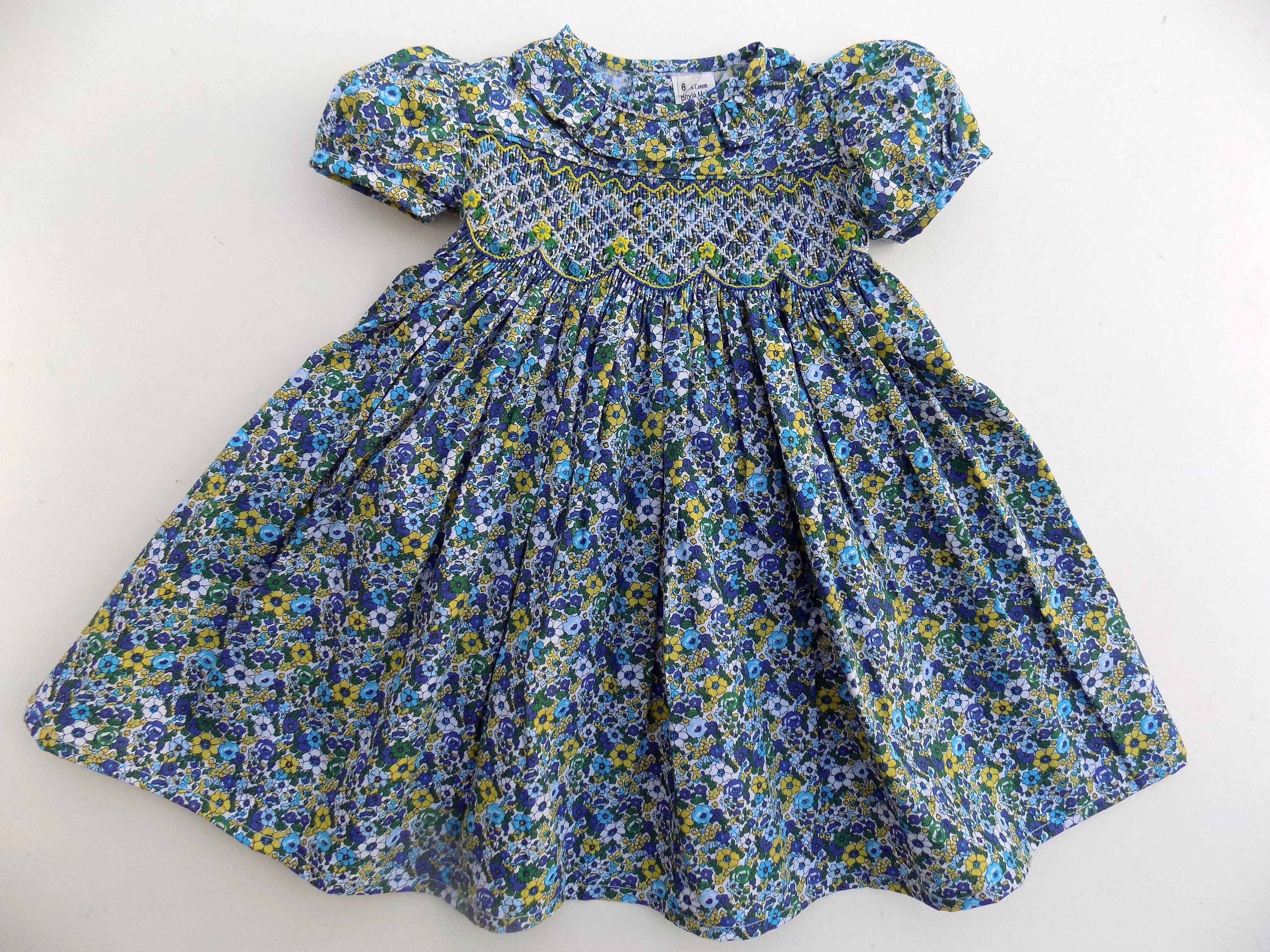 Dress liberty baby cotton printed girl clothes baby girl