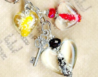 HEARTS bright neon effect ♥ ♥ Keychain - PC108